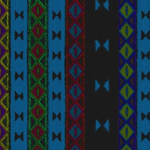Afrika multi stripe French Blue