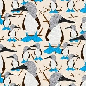 Blue Footed Booby Bird Fabric