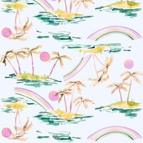 tropical palm purple tropics collection