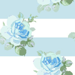 Seaside Garden Roses Stripe aqua