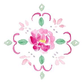 peony pattern pink tile