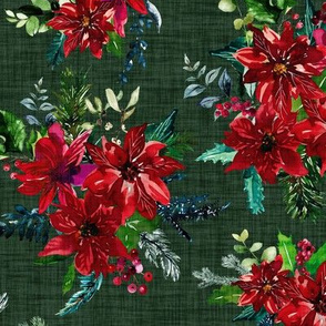 Christmas Cheer Florals // Evergreen Linen
