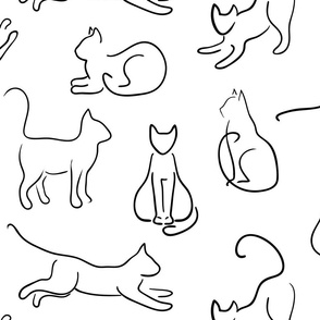 cats on white (large scale)