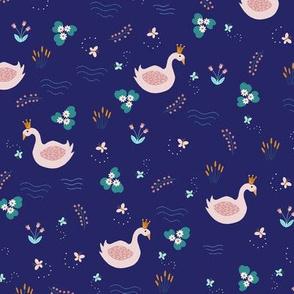 Swan Swan Blue Too