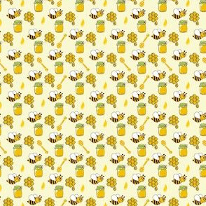 Small bee with honey