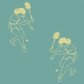 retro tennis
