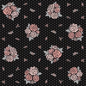 Cassie Rose Floral: Rose Gold & Black Roses
