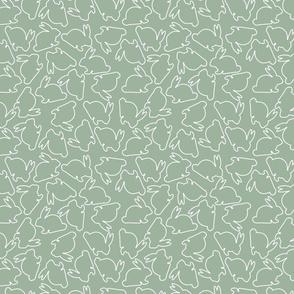 Sage Outline Bunny