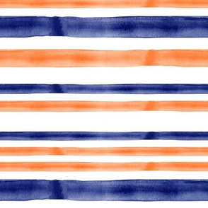 blue and orange watercolor stripes - LAD19