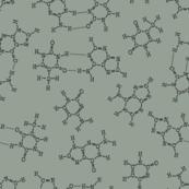 molecules - grey & black