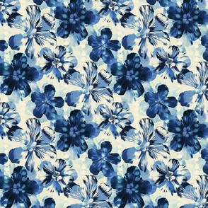 Shibori Inspired Indigo Floral