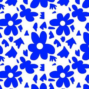 Hope #4  blue on white