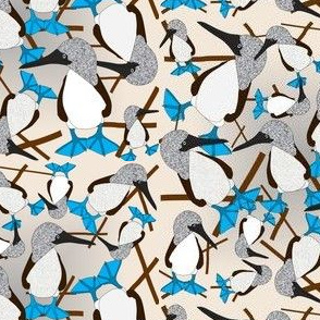 Blue Footed Booby of Galapagos Fabric 3