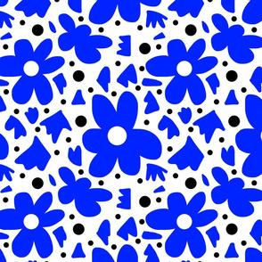 Hope #6  blue on white + black