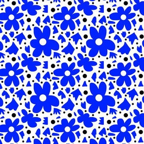 Hope #6  blue on white + black (small)