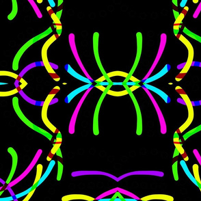 Bent Lines on Black - mirror