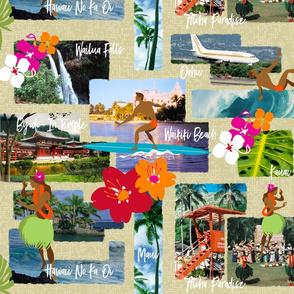 Aloha Paradise Hawaiian Vintage Postcard