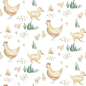Watercolor farm animals 3