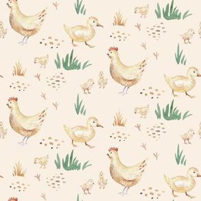 Watercolor farm animals 4