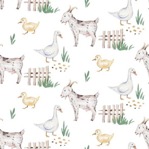 Watercolor farm animals 5