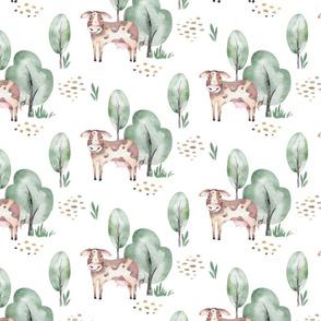 Watercolor farm animals 6