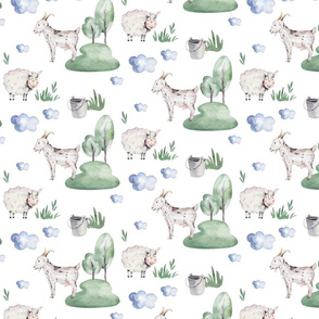 Watercolor farm animals 8