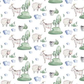 Watercolor farm animals 9