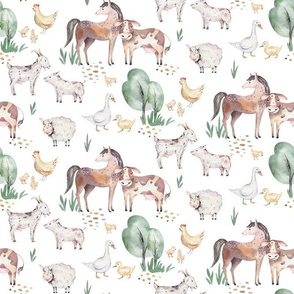 Watercolor farm animals 11
