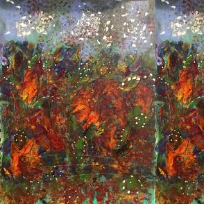 Orange Flower Abstract