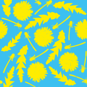 Dandelionbs with Light Blue background