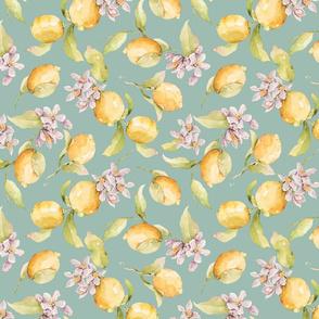 Teal Watercolor Lemon Blossom-032-Small