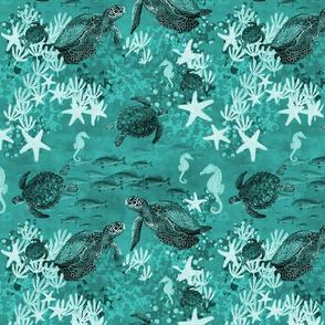Coral Garden Teal