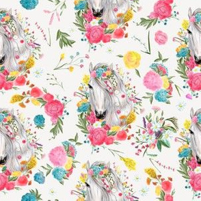 Beautiful horses vintage style repeat pattern design