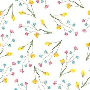 Beautiful watercolor floral vintage repeat pattern design