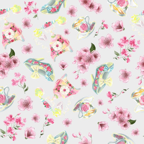 Beautiful watercolor vintage style repeat pattern design