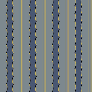 Scalloped Stripes-Medium