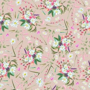Beautiful floral vintage  repeat pattern design
