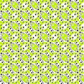 Zap Zag - Yellow and White on White