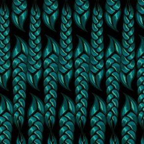 emerald braids