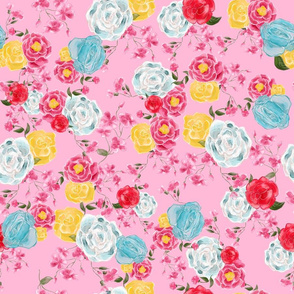 Beautiful floral vintage style seamless pattern