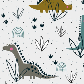 Dinosaur t-rex jurassic pattern (large)