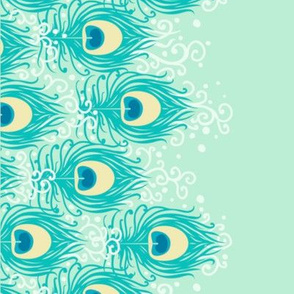 Jasmine peacock blue border