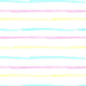 Rainbow stripes White