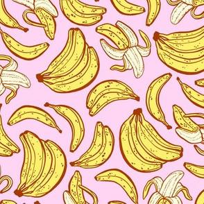 bananas - pink