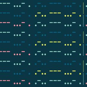 LOVE in morse code-blue big scale