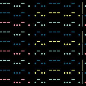 LOVE in morse code-black big scale