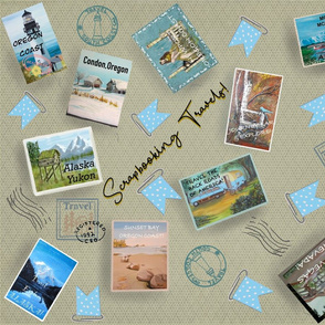 Scrapbooking Vintage Postcards !