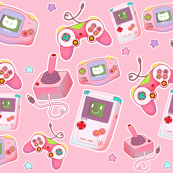 Gamer on Pastel Pink