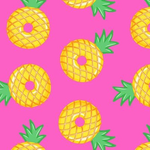 pineapple donuts - hot pink - LAD19