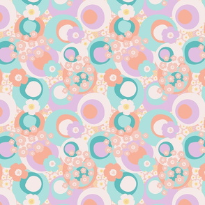 Eclectic Garden Lilac/Peach (small)